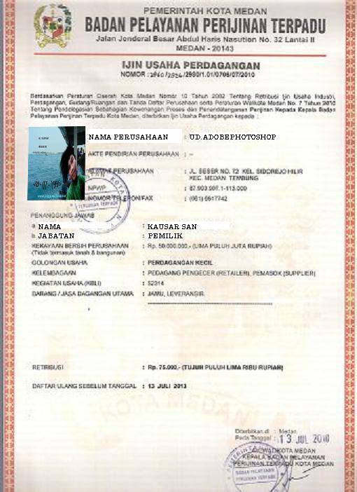 contoh format surat ijin tempat usaha   kimhotnews contoh
