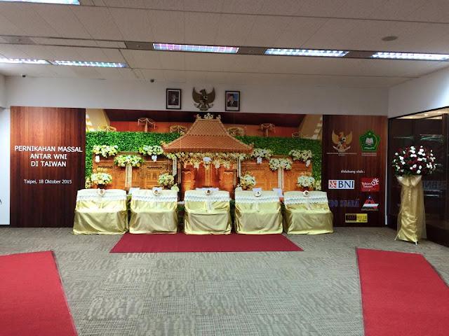 Photo - Photo Pernikahan Masal TKL TKW Asal Indonesia di KDEI Taiwan Hari Ini