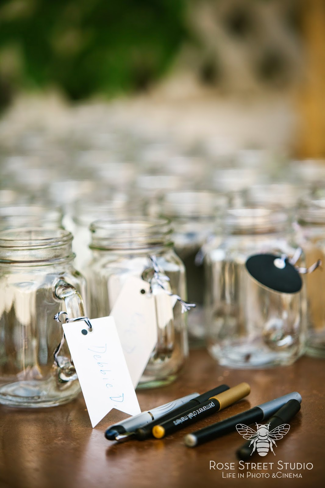 Wedding mason jar tags l Rose Street Studio l Take the Cake Event Planning
