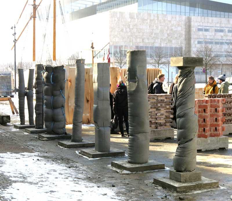 Concretely fabric formed concrete columns for Concrete pillars for foundation