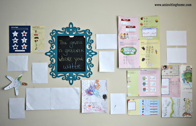 use paper on the walls to figure out your gallery wall