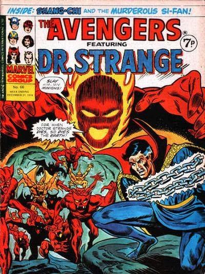 Marvel UK, Avengers #66, Dr Strange v Dormammu