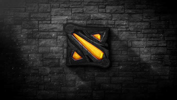 Stone background DoTA 2 Logo