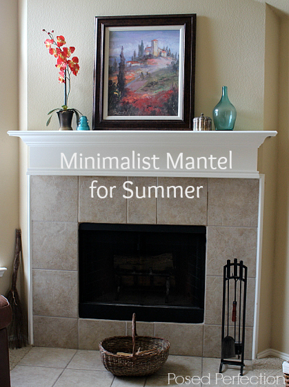 Minimalist Mantel for Summer
