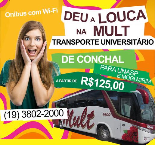 Transporte para UNASP e Mogi Mirim a partir de R$ 125,00