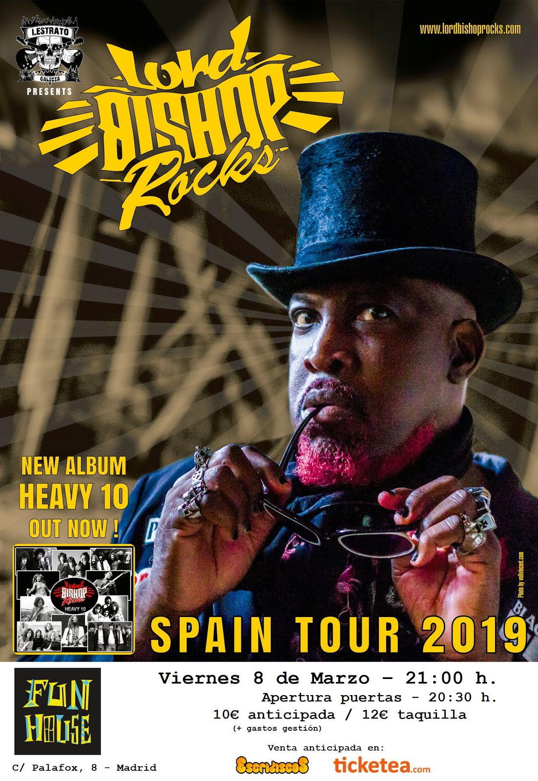 Lord Bishop Rocks - 08/03/2019 - Fun House (Madrid)