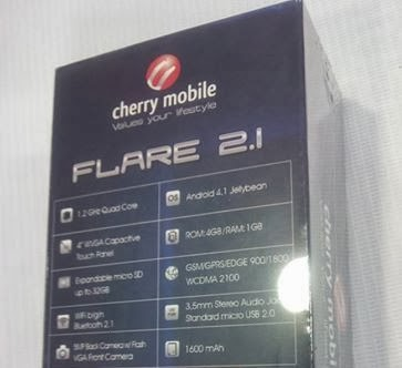 Cherry Mobile Flare 2.1 year ender Quad Core for only 3999 pesos