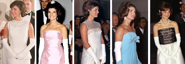 Jackie Kennedy evening gowns