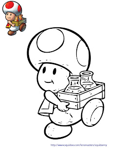 Old King Cole Coloring Page besides Super Mario Bros Toad Coloring ...