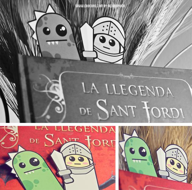 marca-páginas, leyenda san jorge, día del libro 2015