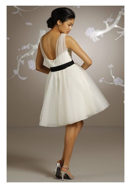 short ball gown bridesmaid dress