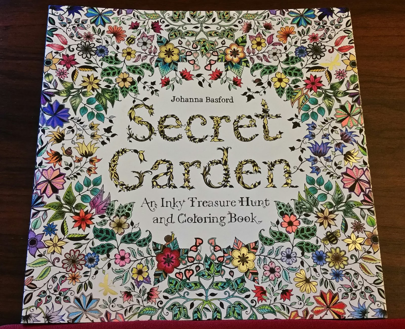 i finished the front of the cover of my secret garden coloring book last night - My Secret Garden Coloring Book