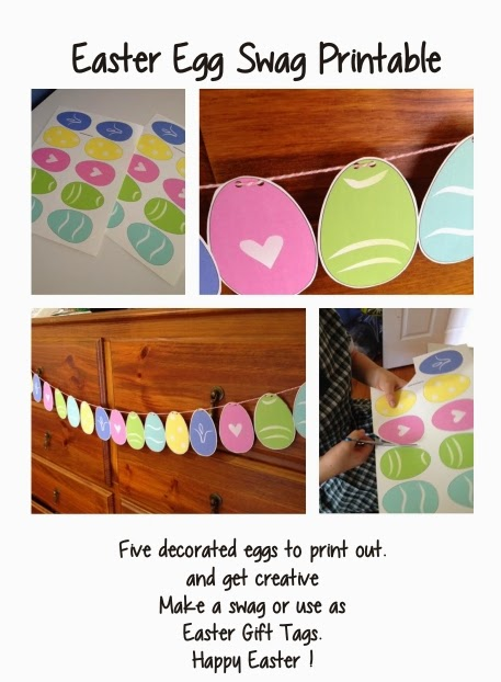 Printable Easter Egg swag or tags
