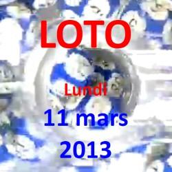 LOTO - lundi 11 mars 2013
