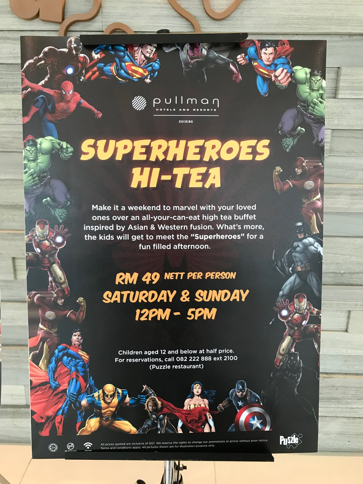 The Superheroes Hi-Tea @ Pullman Kuching