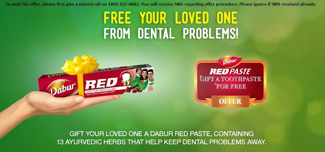 Gift Free Dabur Red Toothpaste to Your Loved one