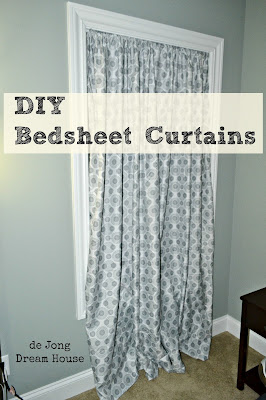 DIY Bedsheet Curtains