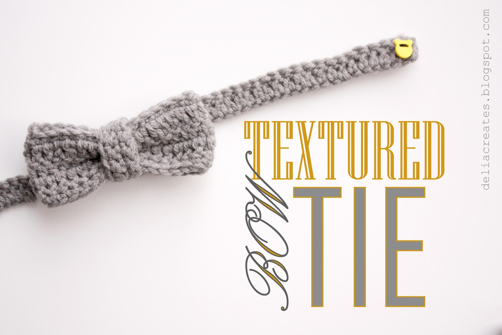 Textured bow tie it is just crocheted blocks sewed together pretty easy and do able even for the most beginner of crocheters when you sew your pieces together jeuxipadfo Images