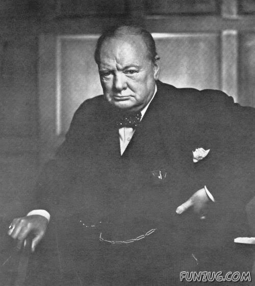 Potret Winston Churchill