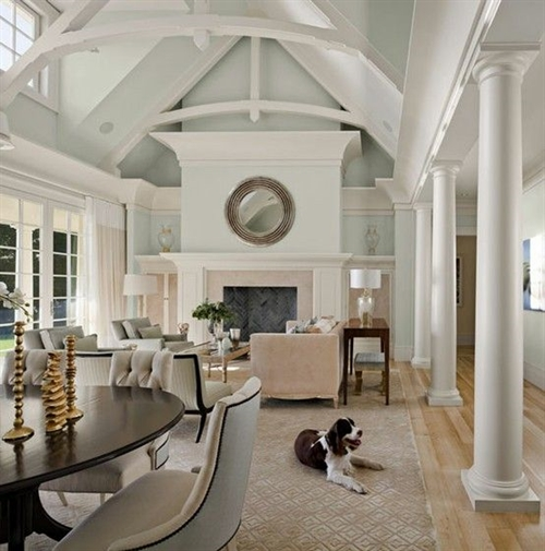 Above: A Little More Traditional, However The Perfect Hamptons Colour  Scheme   Image Via