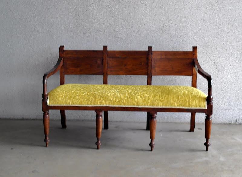 Reupholstered Vintage Sofa