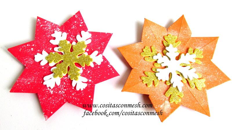 Guirnaldas para navidad con copos de nieve manualidades - Guirnaldas navidad manualidades ...