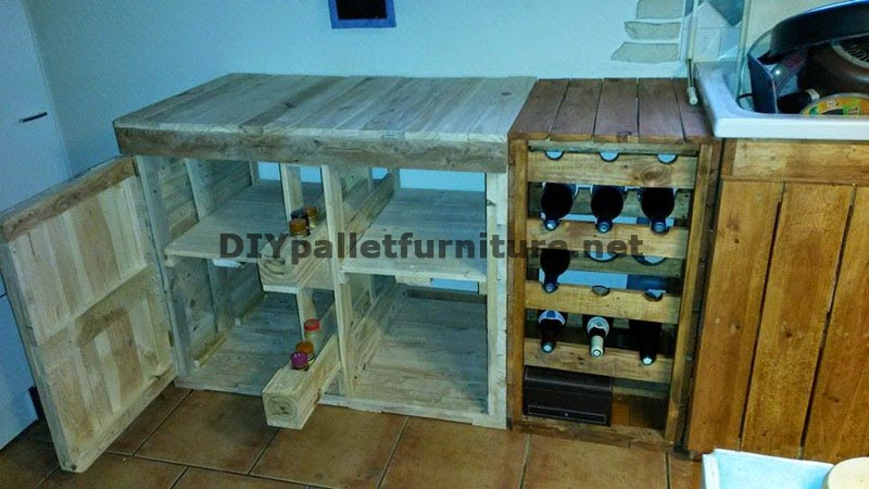 Cocinas hechas con palets cocina exterior palet with for Cocinas hechas con palets