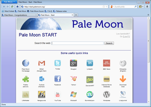 Pale Moon (optimized Firefox browser)