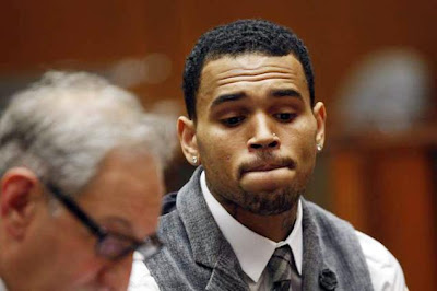 Chris Brown in Court, Failed Drug Test