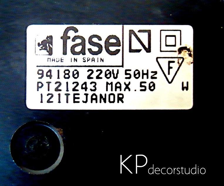 Lámparas marca FASE años 50-70-90 para decoración