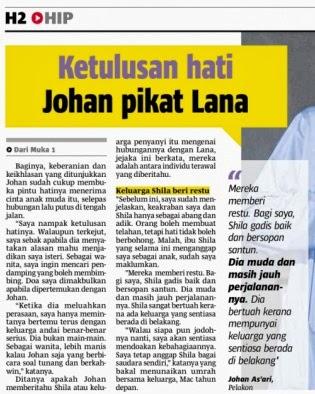 Ketulusan hati Johan As'ari pikat Lana Nordin