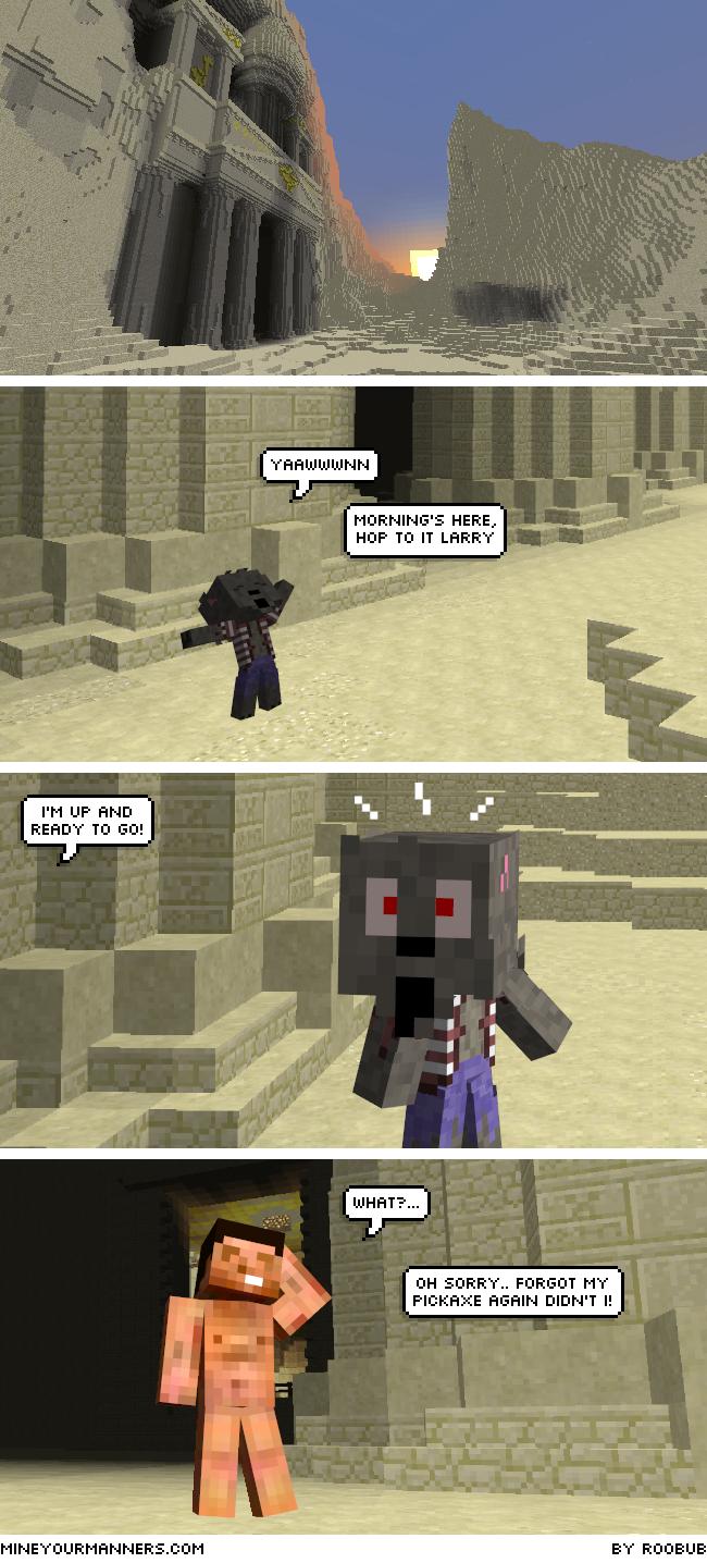 Minecraft Web Comic