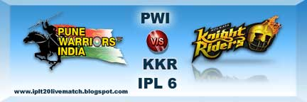 IPL Season 6 PWI vs KKR Live Match PWI Players List and New Captain Name