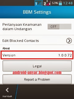 Free download official BBM for Android v 1.0.0.72.apk full installer
