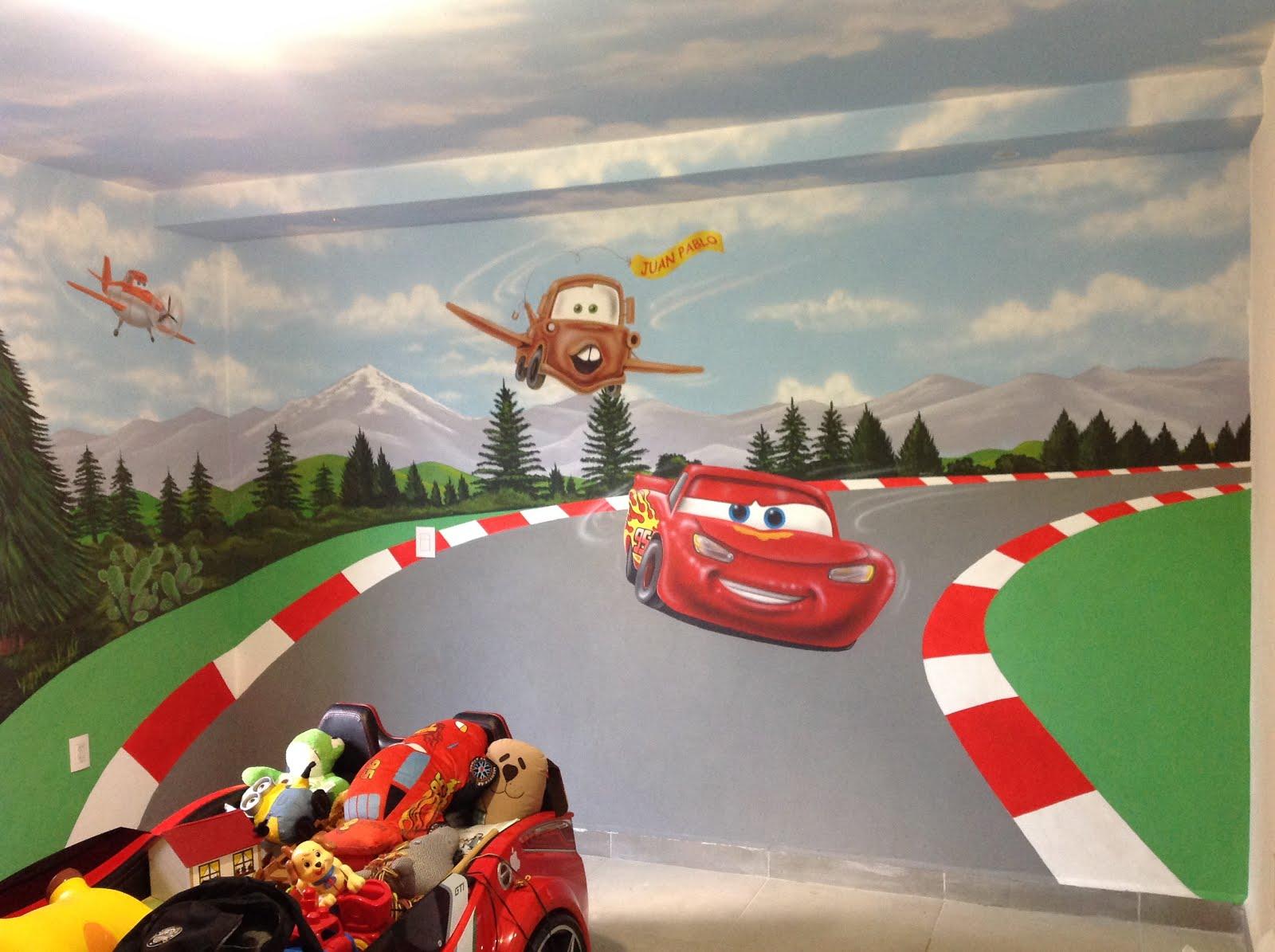 Murales infantiles y arte decorativo pintado a mano por un - Dormitorios de cars ...