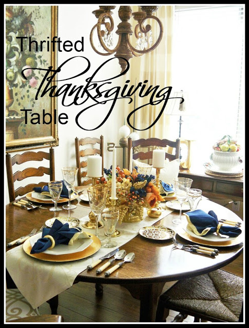 Thrifted Thanksgiving Table