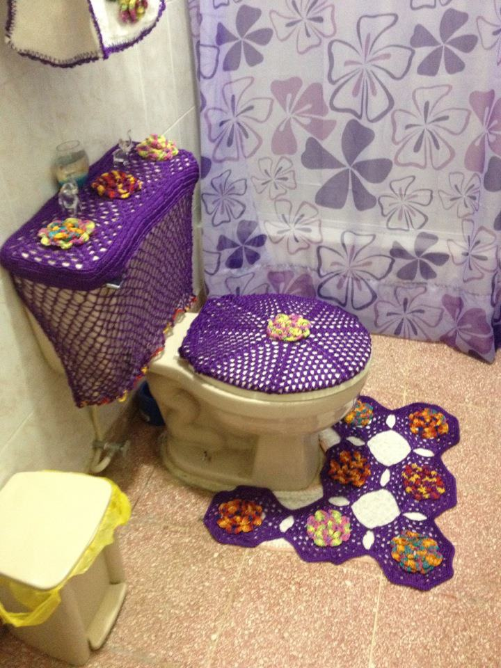 Set De Baño Tejido En Crochet Paso A Paso:CLUB LAS ARAÑITAS DOMINICANAS: JUEGOS DE BAÑOS A CROCHET LADAMA