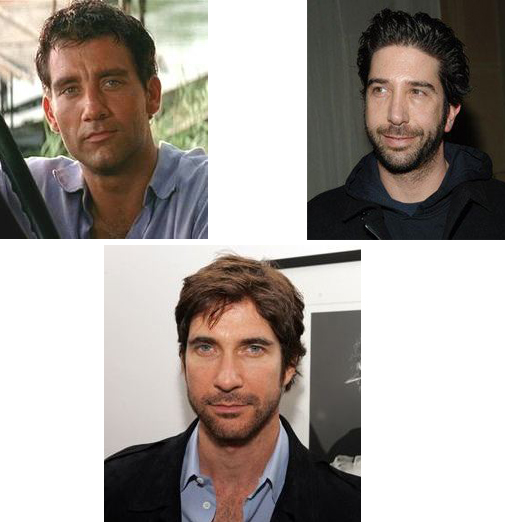 Dylan McDermott and David Schwimmer and Cliv Owen, Handsome man, hollywood actor, hot male, good looking guy