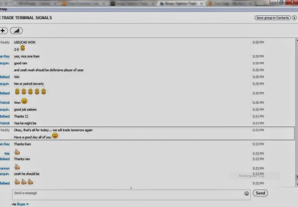 Binary options skype