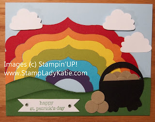 Punch Art Pot of Gold Card made with Stampin'UP! dies and Punches