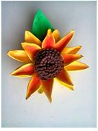 Flor hecha con fomi