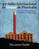 """""""Um desenho p/ Charlie""""-""""Eu rio das Lontras""""-""""Pamonhas Piracicaba""""- Salão Humor-Piracicaba,SP(2015)"""