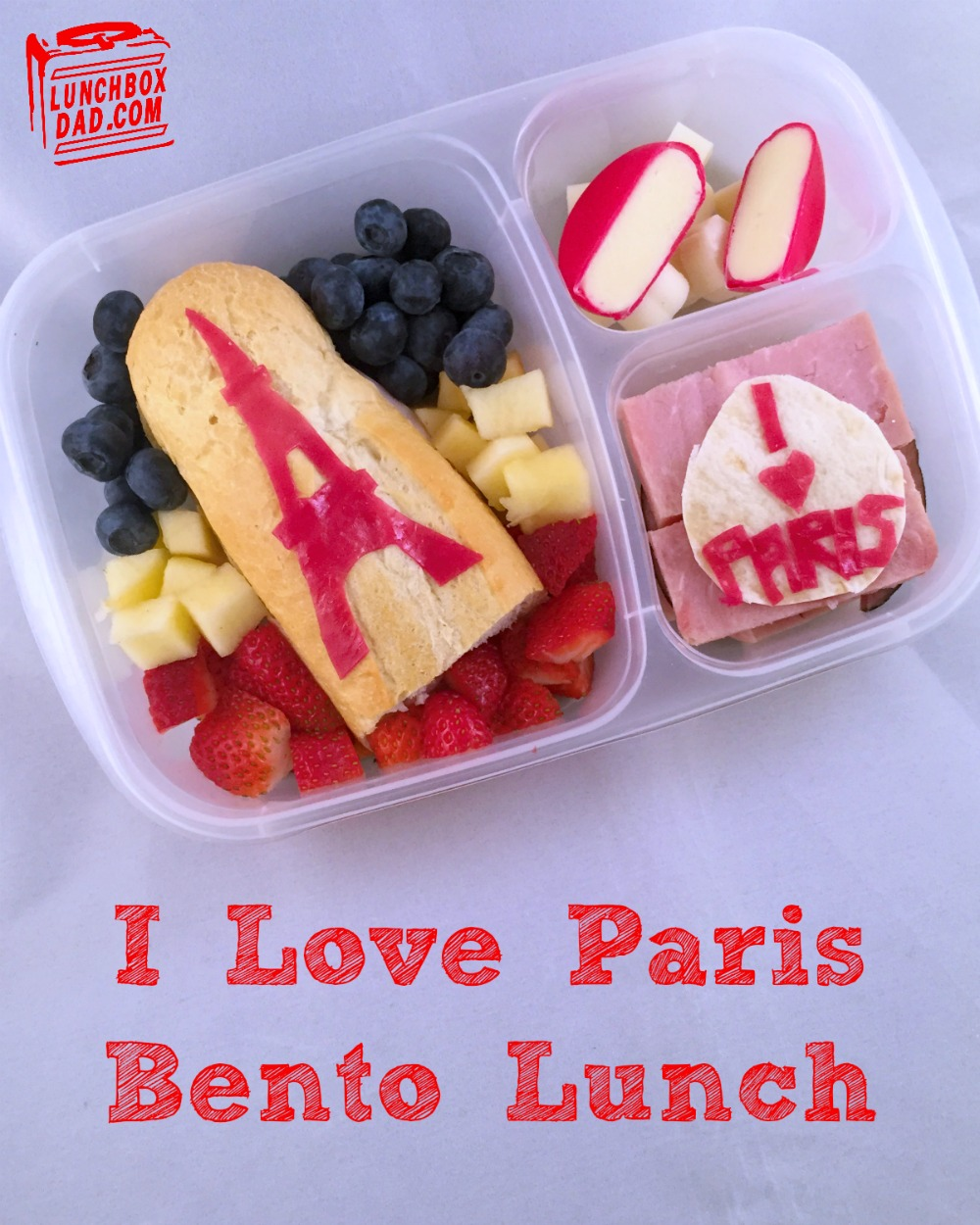 lunchbox dad i love paris bento lunch. Black Bedroom Furniture Sets. Home Design Ideas