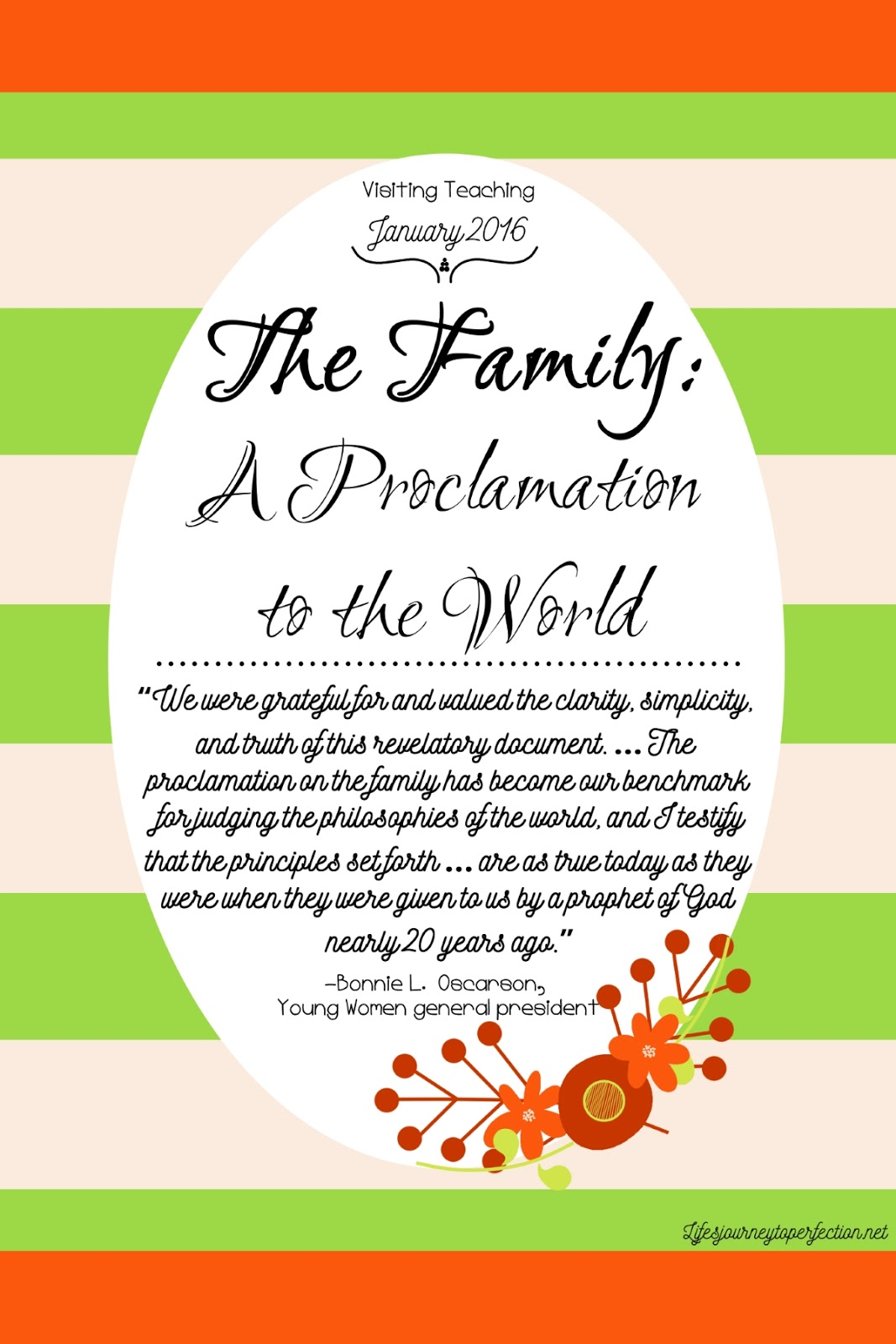 Lifes journey to perfection visiting teaching ideas for january lifes journey to perfection visiting teaching ideas for january 2016 the family a proclamation to the world negle Images