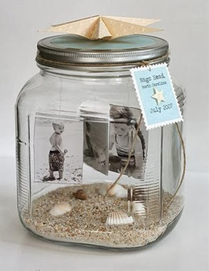 Portarretratos hechos con frascos tarros y botellas de for Homemade gifts in a jar for men
