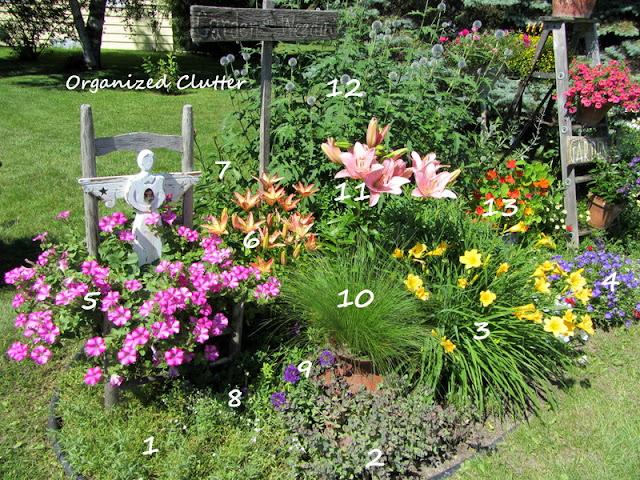 Cottage Garden Planting Diagram