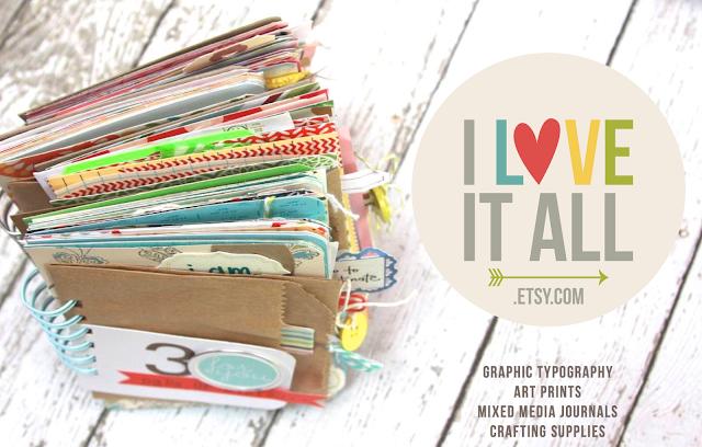 #art #prints #etsy #journals #mini album