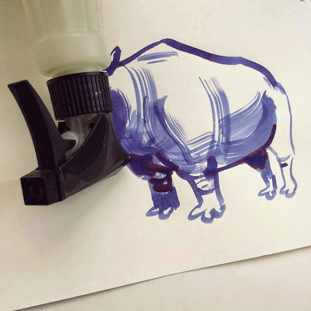 Creativity08-with-Water-Bottle-Spray-Rhinoceros