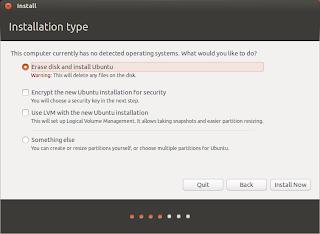Installation type Ubuntu 13.04