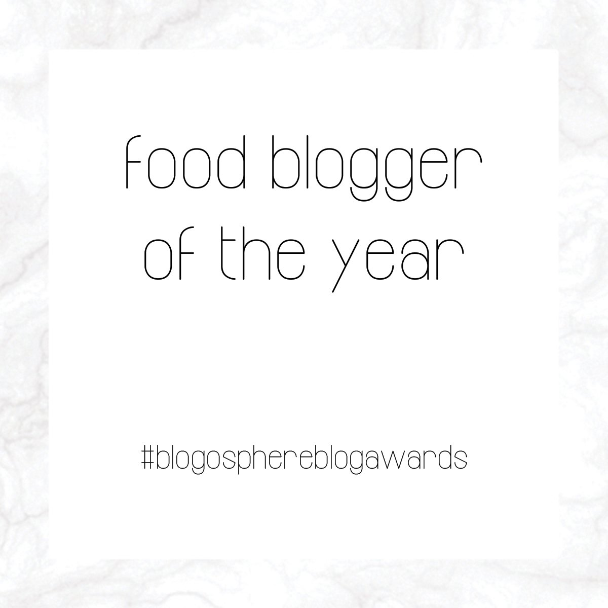 WINNER OF FOOD BLOGGER OF THE YEAR 2017